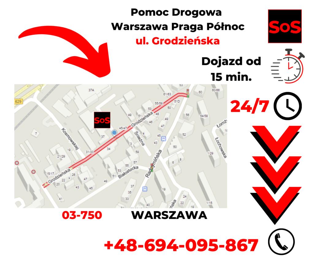 Pomoc drogowa ul. Grodzieńska