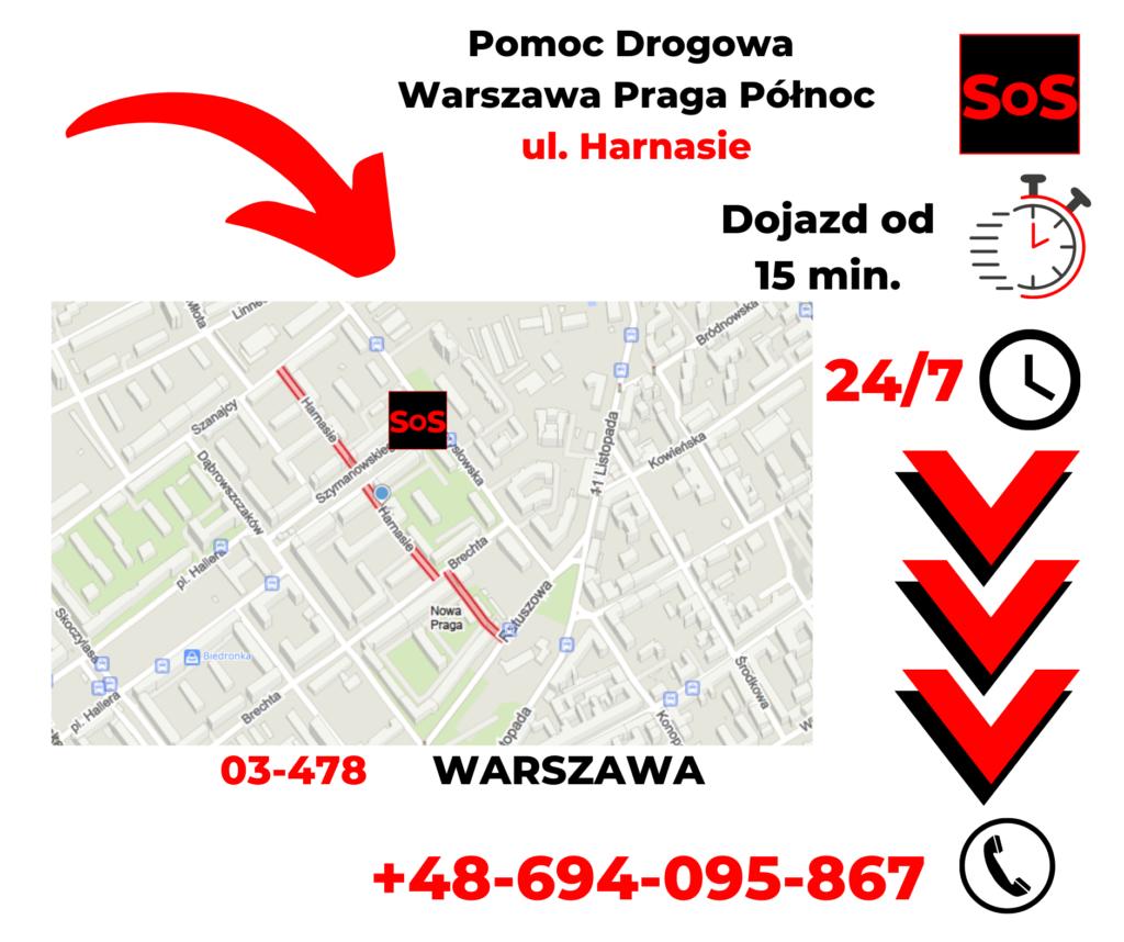 Pomoc drogowa ul. Harnasie