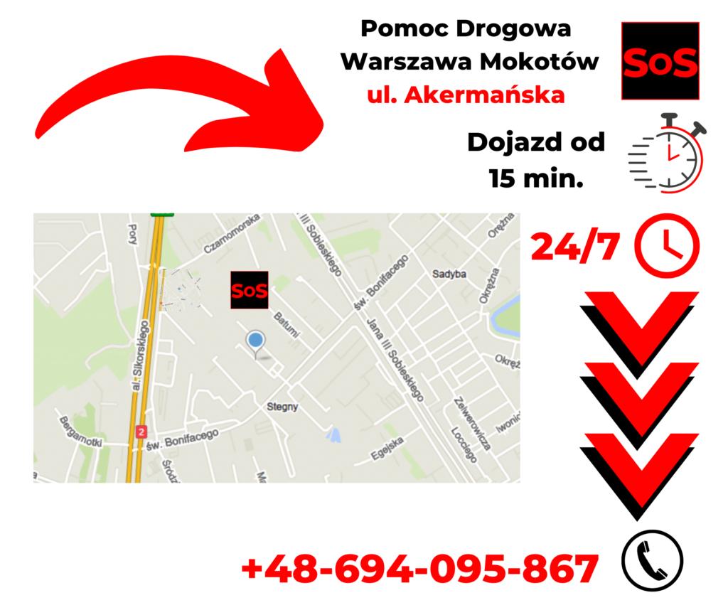 Pomoc drogowa ul. Akermańska