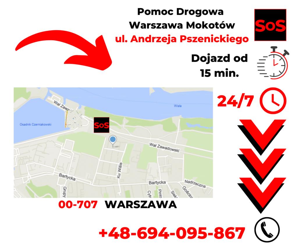 Pomoc drogowa ul. Andrzeja Pszenickiego