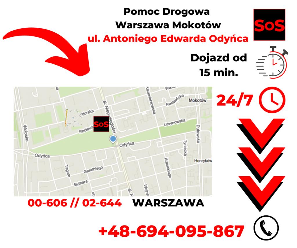 Pomoc drogowa ul. Antoniego Edwarda Odyńca