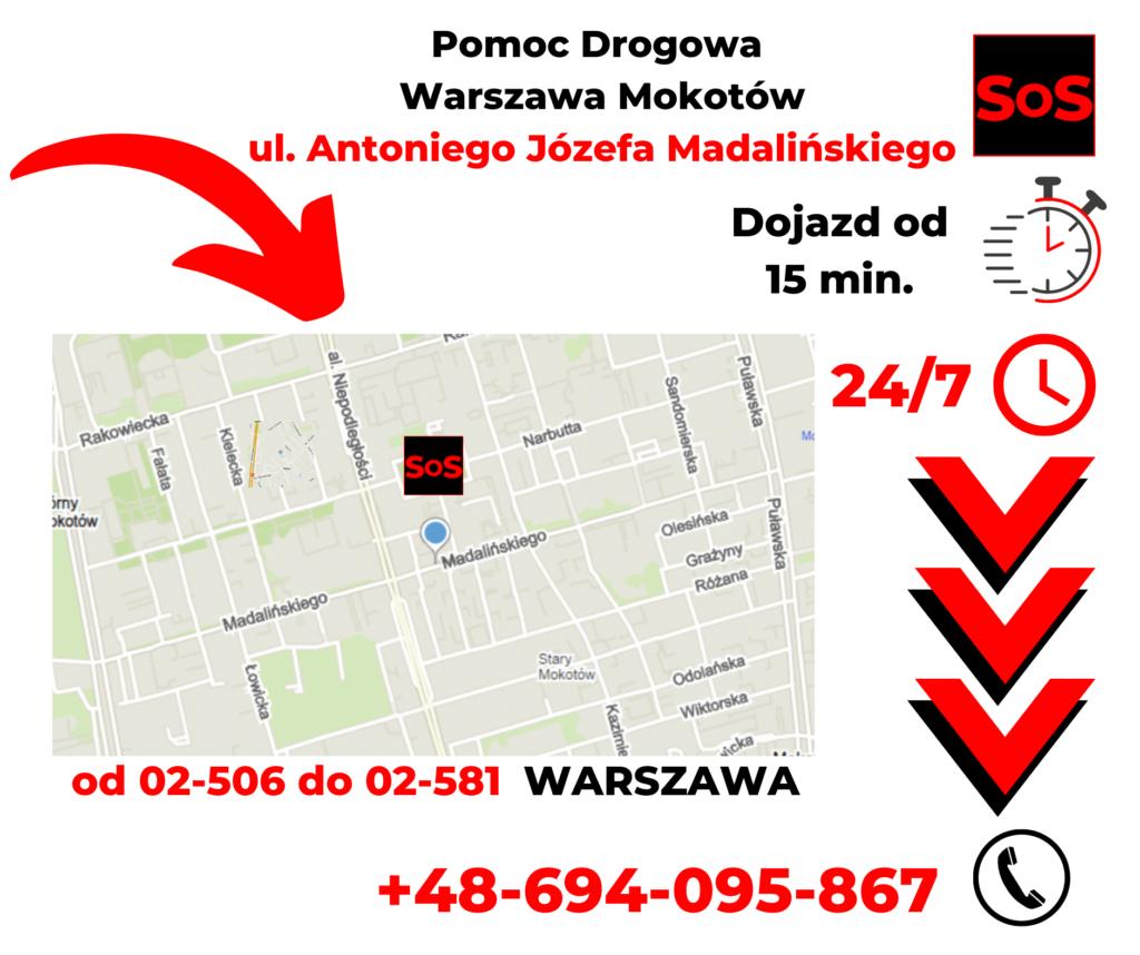 Pomoc drogowa ul. Antoniego Józefa Madalińskiego