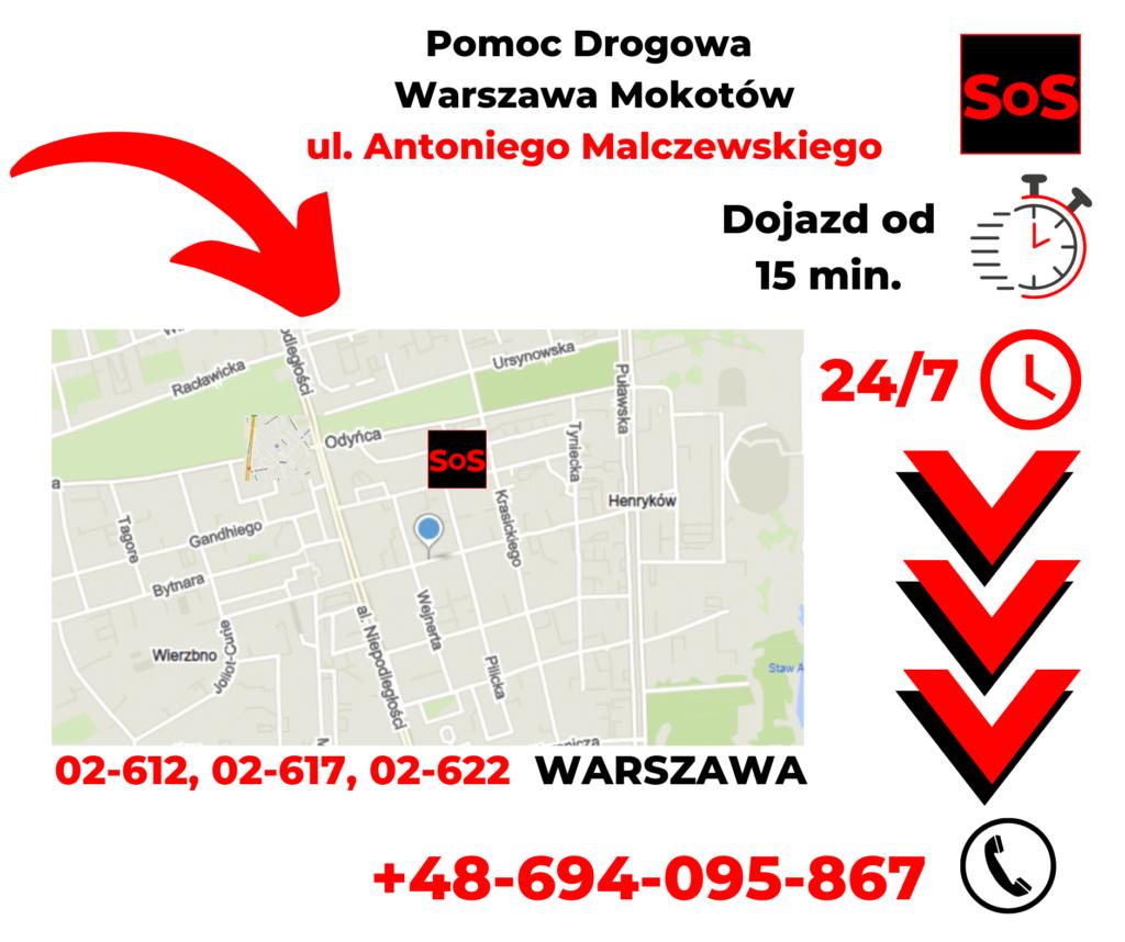 Pomoc drogowa ul. Antoniego Malczewskiego