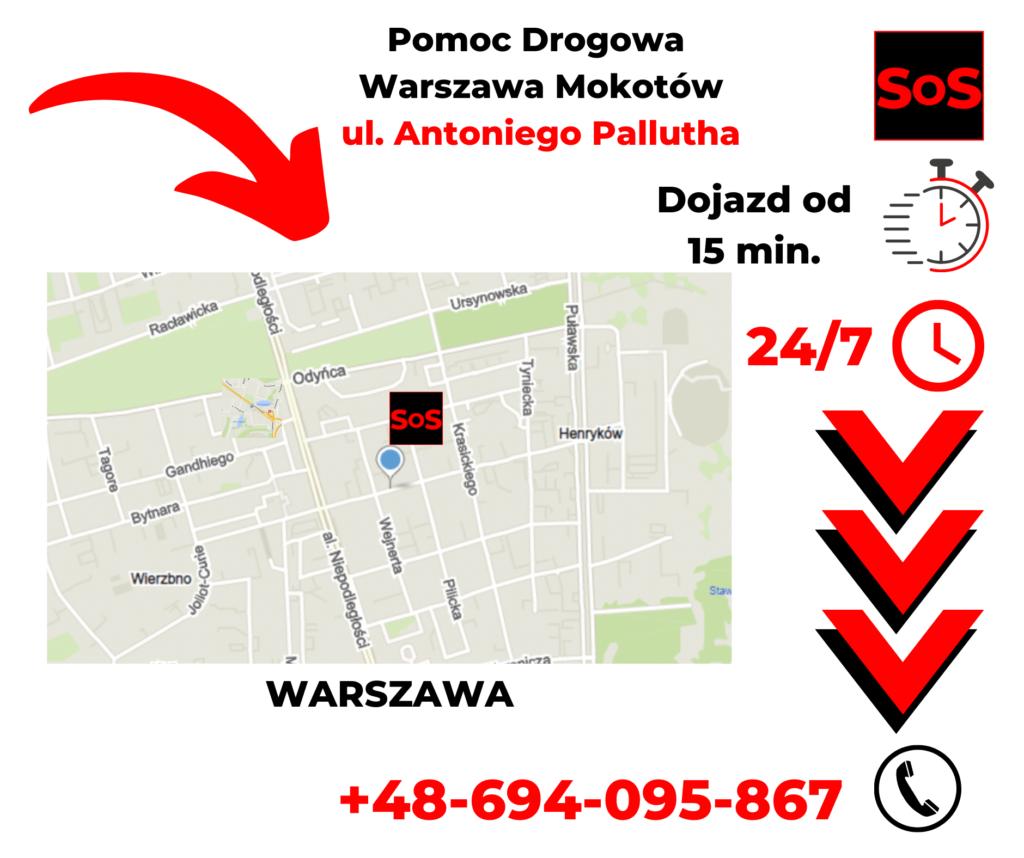 Pomoc drogowa ul. Antoniego Pallutha