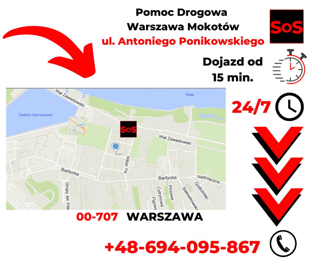 Pomoc drogowa ul. Antoniego Ponikowskiego