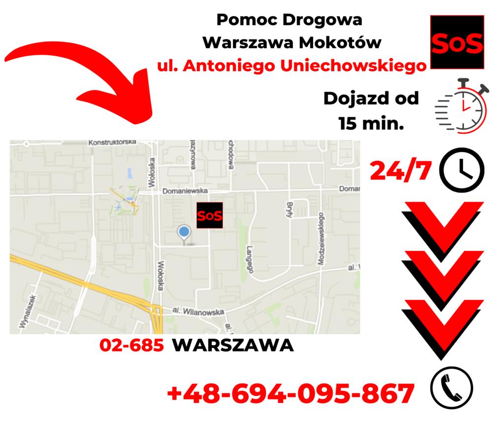 Pomoc drogowa ul. Antoniego Uniechowskiego