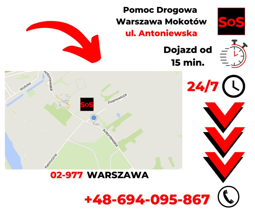 Pomoc drogowa ul. Antoniewska