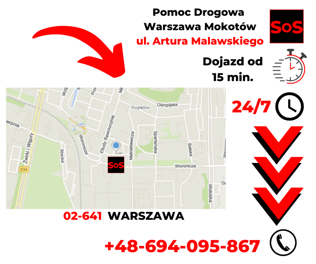 Pomoc drogowa ul. Artura Malawskiego