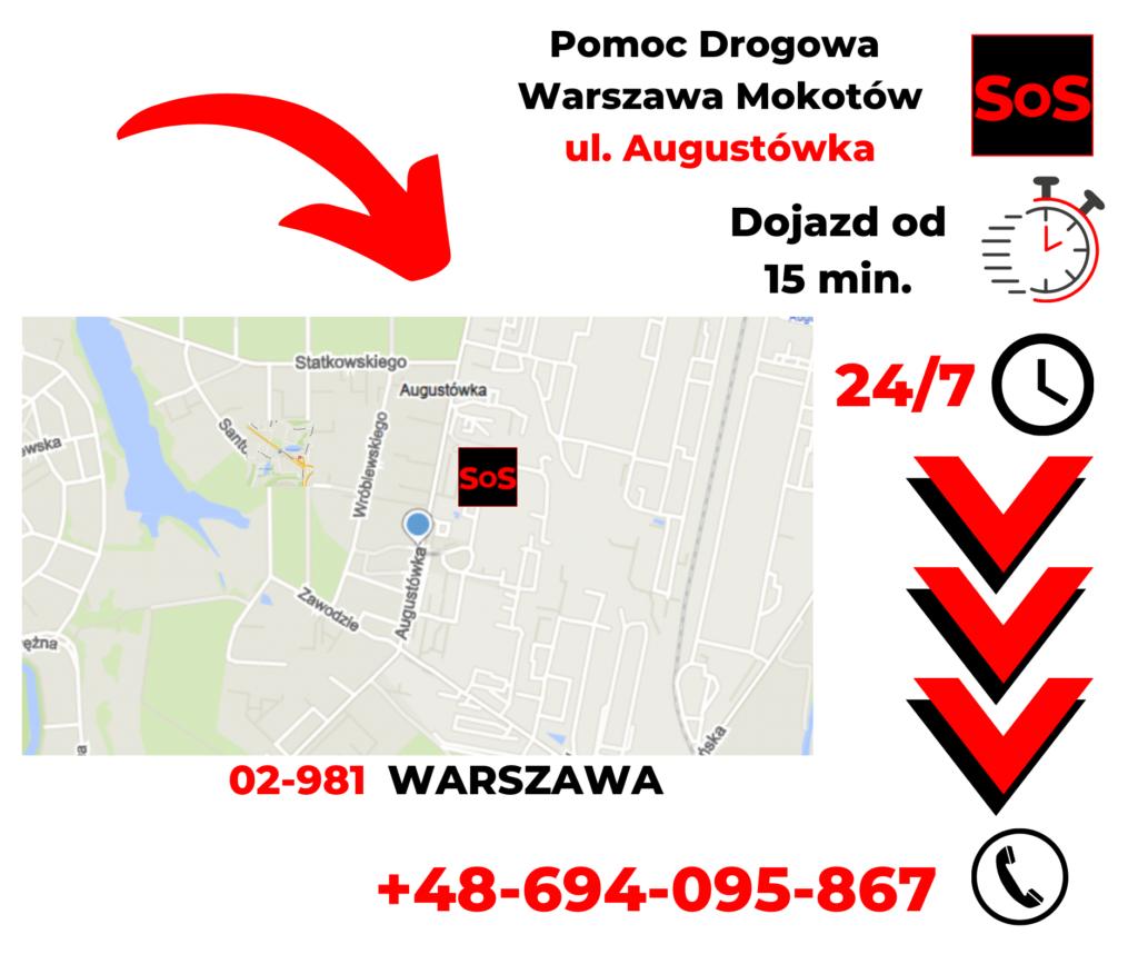 Pomoc drogowa ul. Augustówka