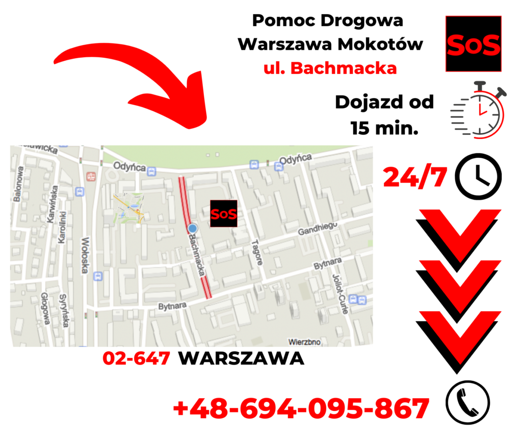 Pomoc drogowa ul. Bachmacka