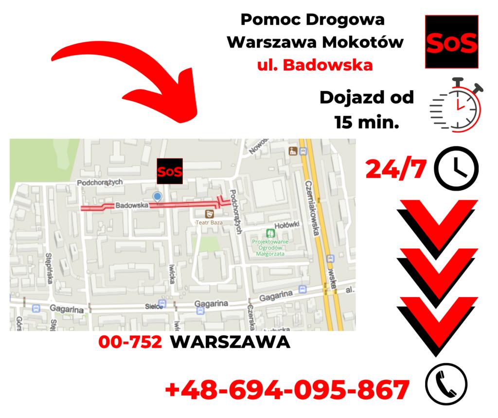 Pomoc drogowa ul. Badowska