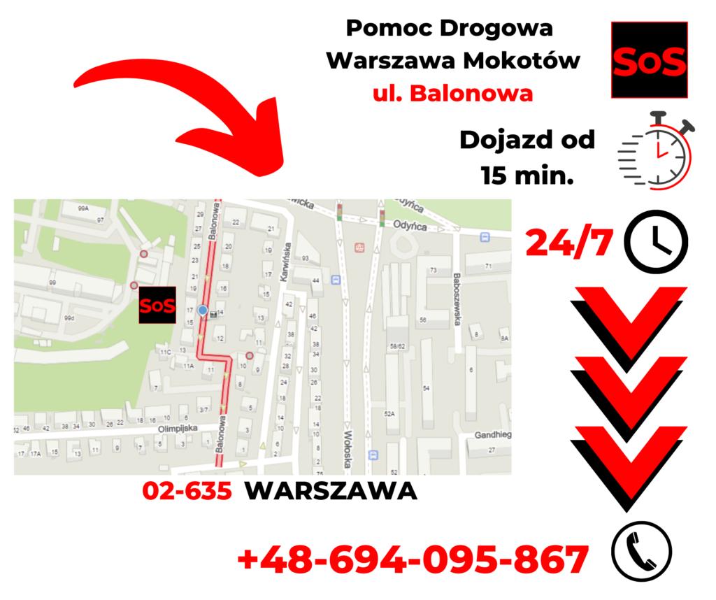 Pomoc drogowa ul. Balonowa