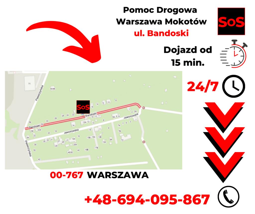 Pomoc drogowa ul. Bandoski