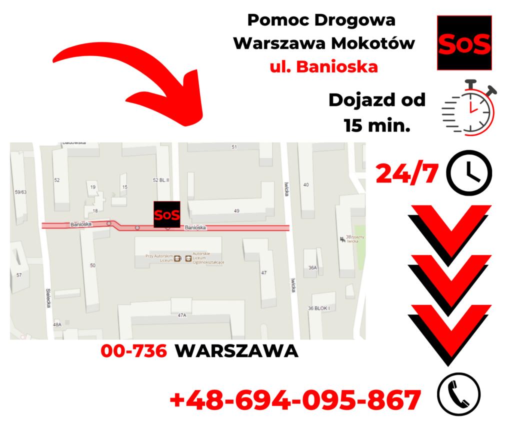 Pomoc drogowa ul. Banioska