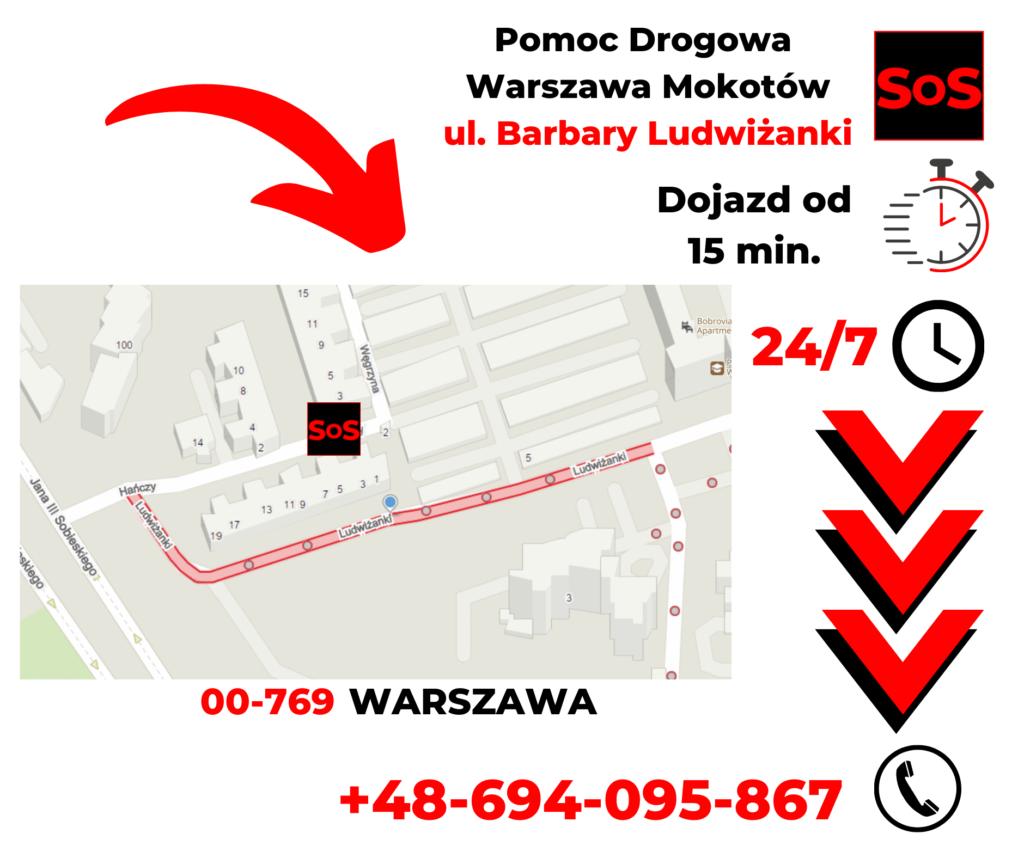 Pomoc drogowa ul. Barbary Ludwiżanki