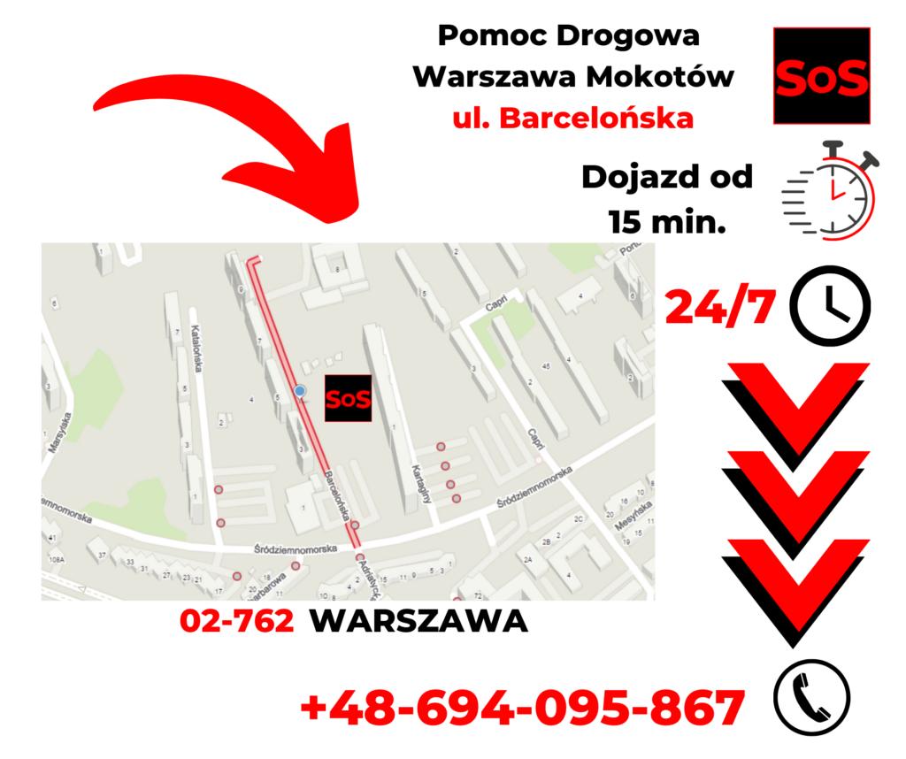 Pomoc drogowa ul. Barcelońska
