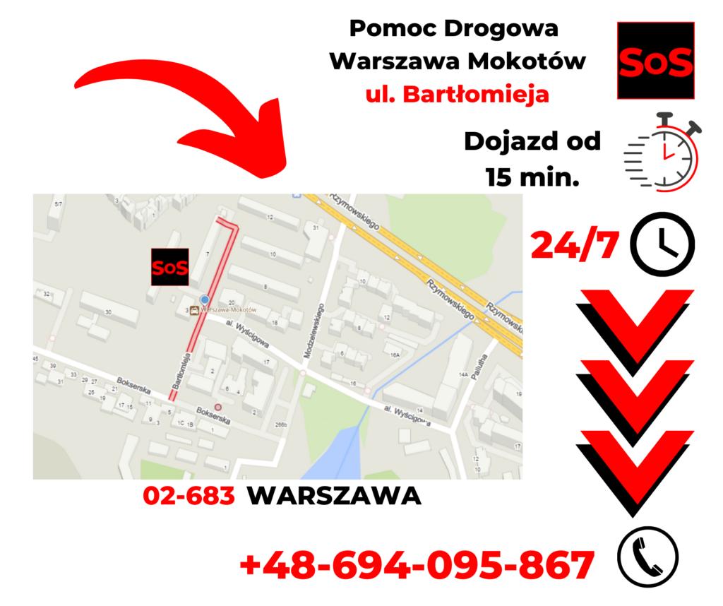 Pomoc drogowa ul. Bartłomieja