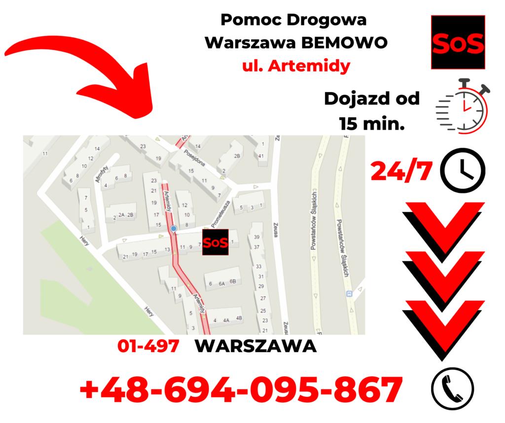 Pomoc drogowa ul. Artemidy